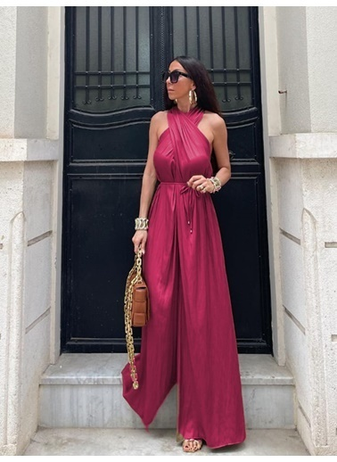 BLACK&GRACE Elbise Fuşya